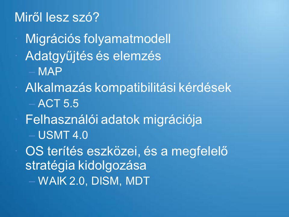 Migrációs folyamatmodell Adatgyűjtés és elemzés