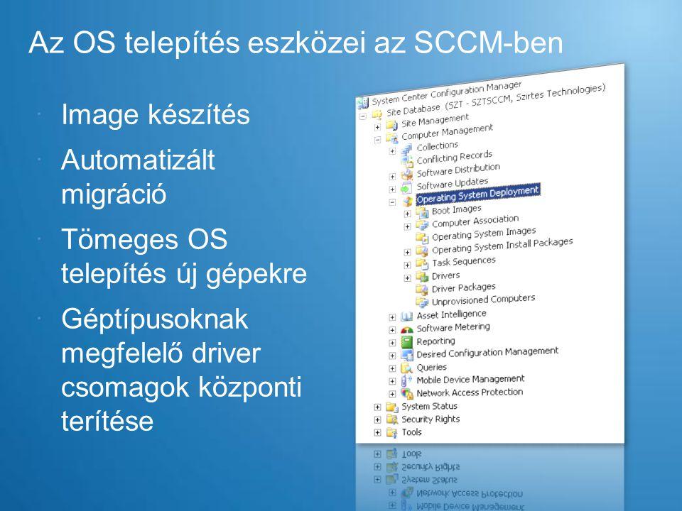 Az OS telepítés eszközei az SCCM-ben