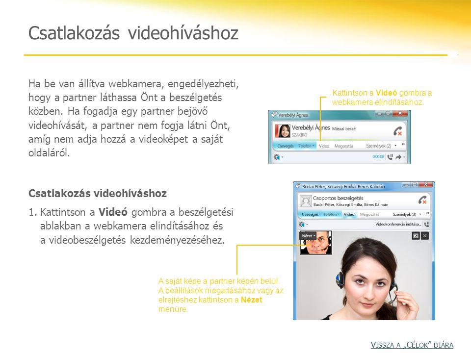 Csatlakozás videohíváshoz