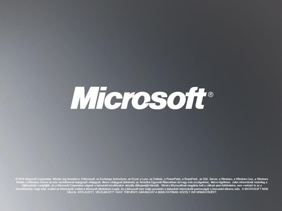 © 2010 Microsoft Corporation. Minden jog fenntartva
