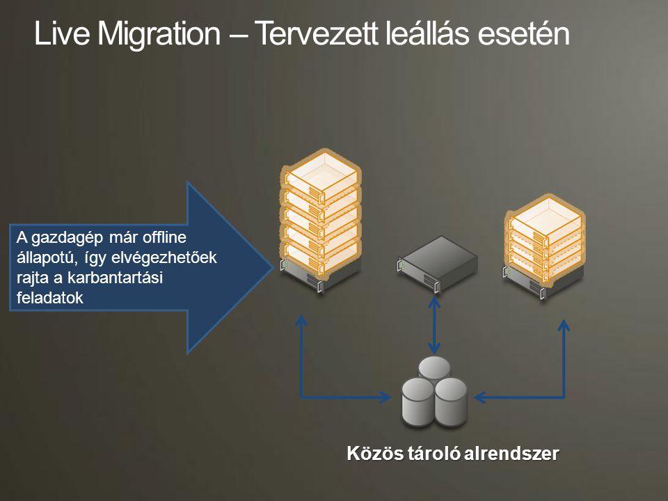 Live Migration – Tervezett leállás esetén