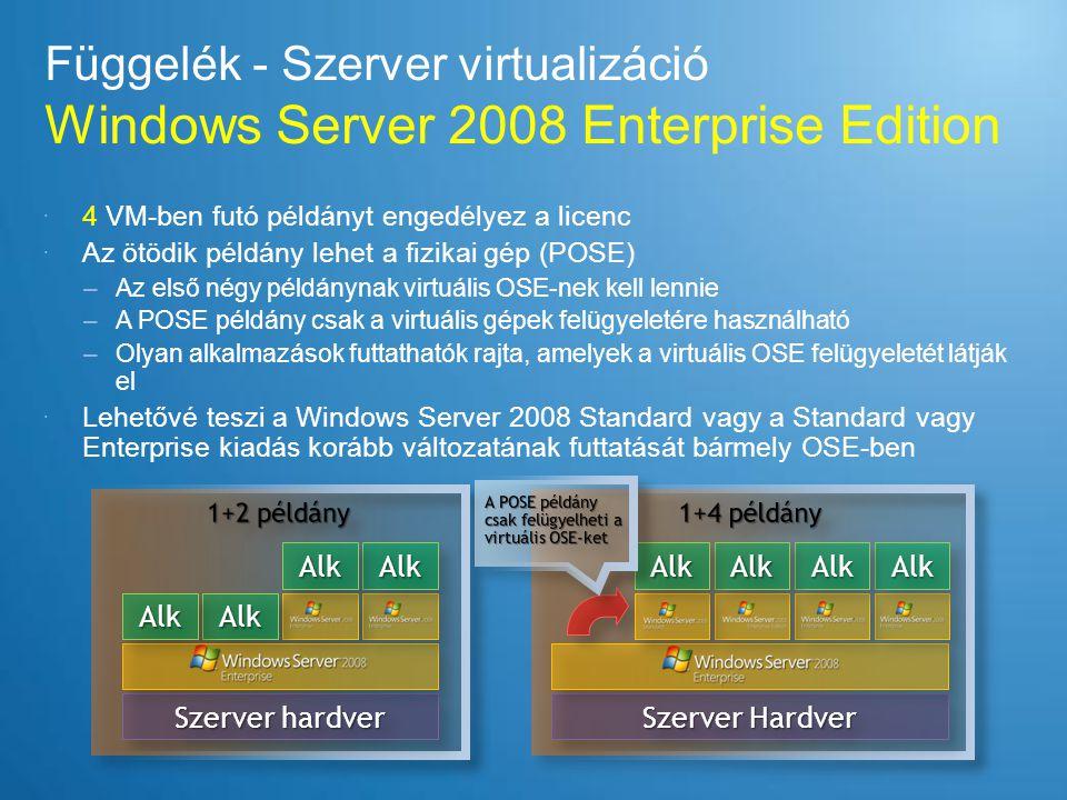 Függelék - Szerver virtualizáció Windows Server 2008 Enterprise Edition