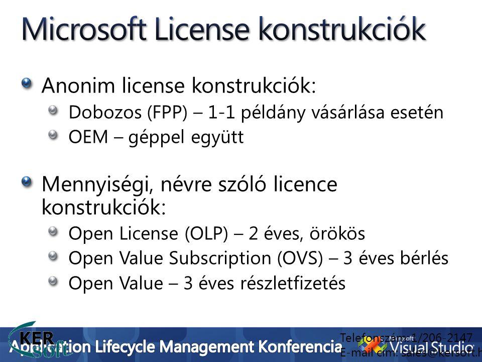 Microsoft License konstrukciók
