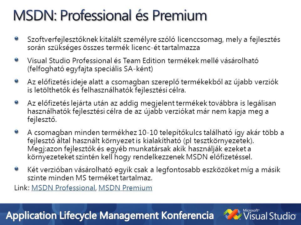 MSDN: Professional és Premium
