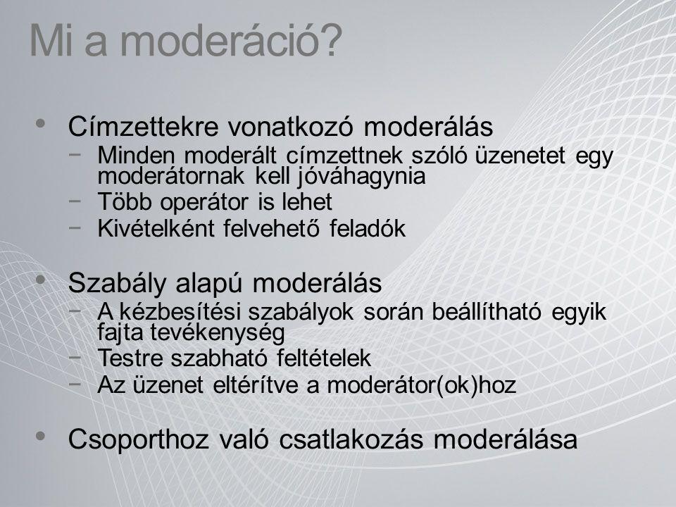 Mi a moderáció Címzettekre vonatkozó moderálás