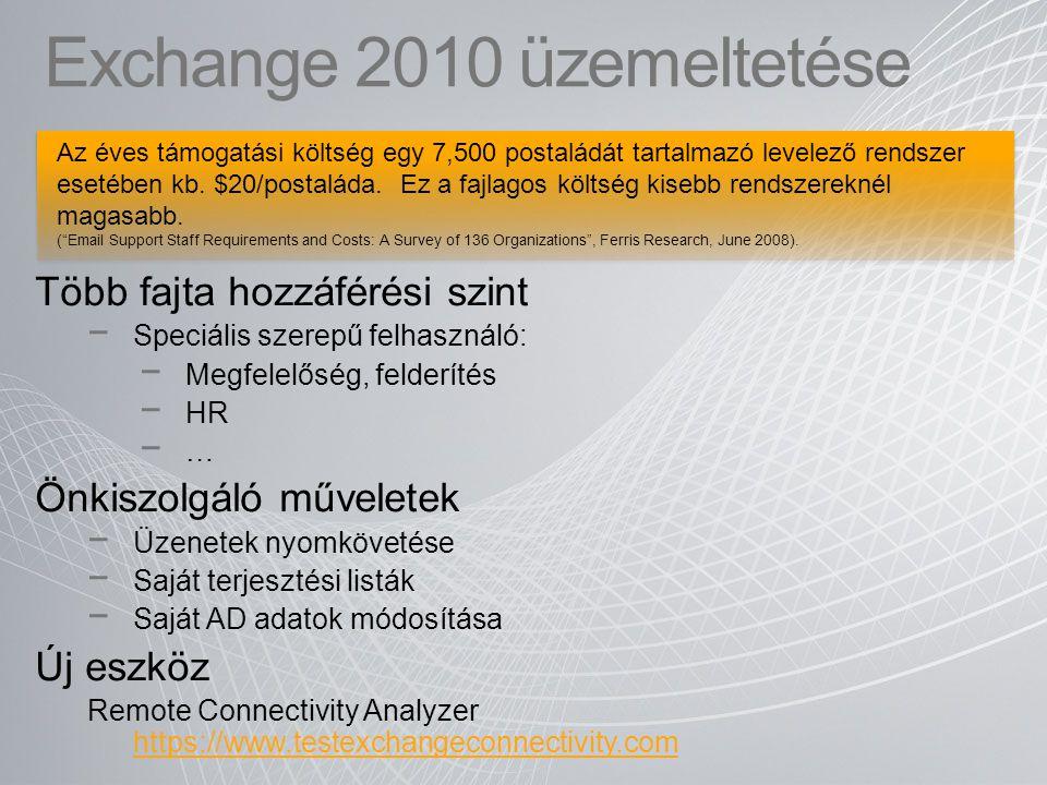 Exchange 2010 üzemeltetése
