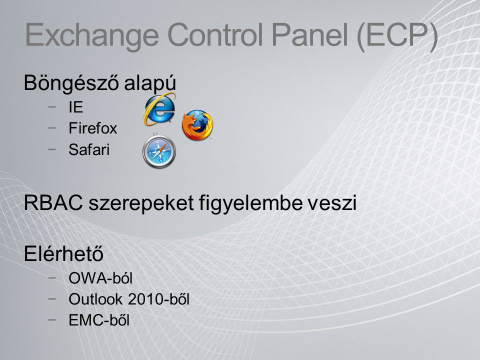 Exchange Control Panel (ECP)