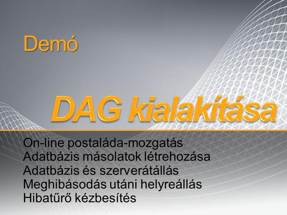 DAG kialakítása Demó On-line postaláda-mozgatás