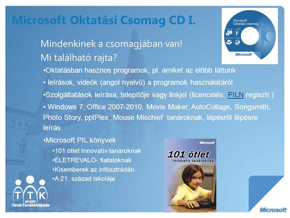 Microsoft Oktatási Csomag CD I.