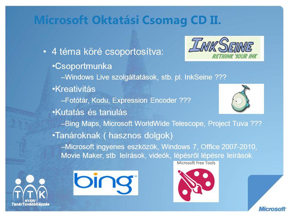 Microsoft Oktatási Csomag CD II.