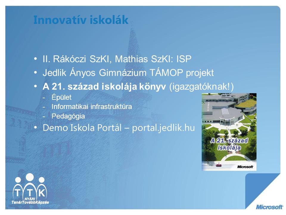 Innovatív iskolák II. Rákóczi SzKI, Mathias SzKI: ISP