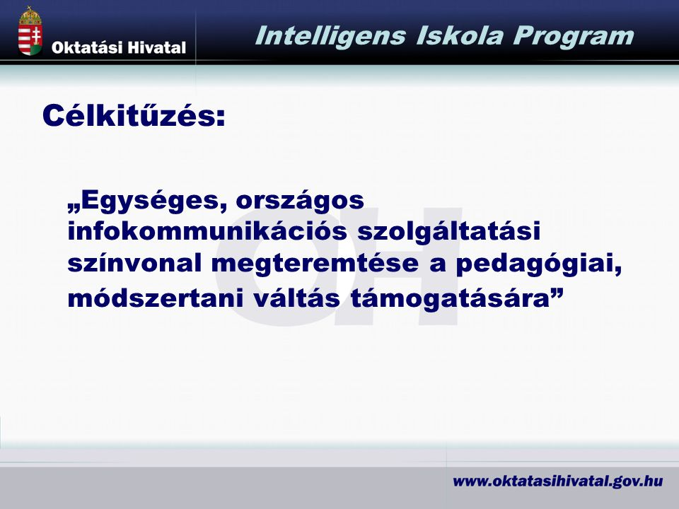 Intelligens Iskola Program