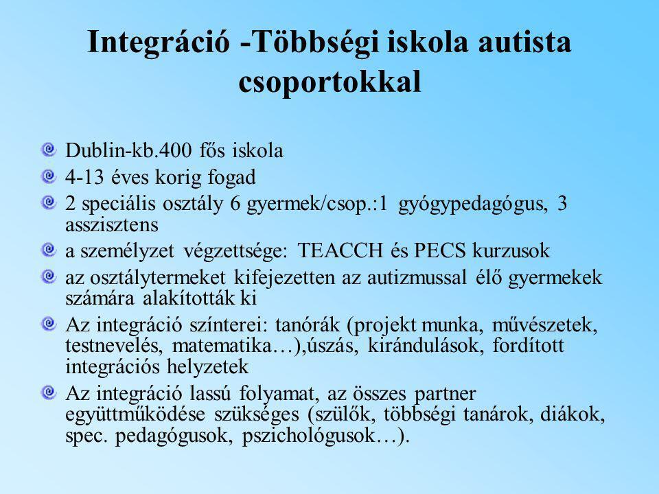 Integráció -Többségi iskola autista csoportokkal