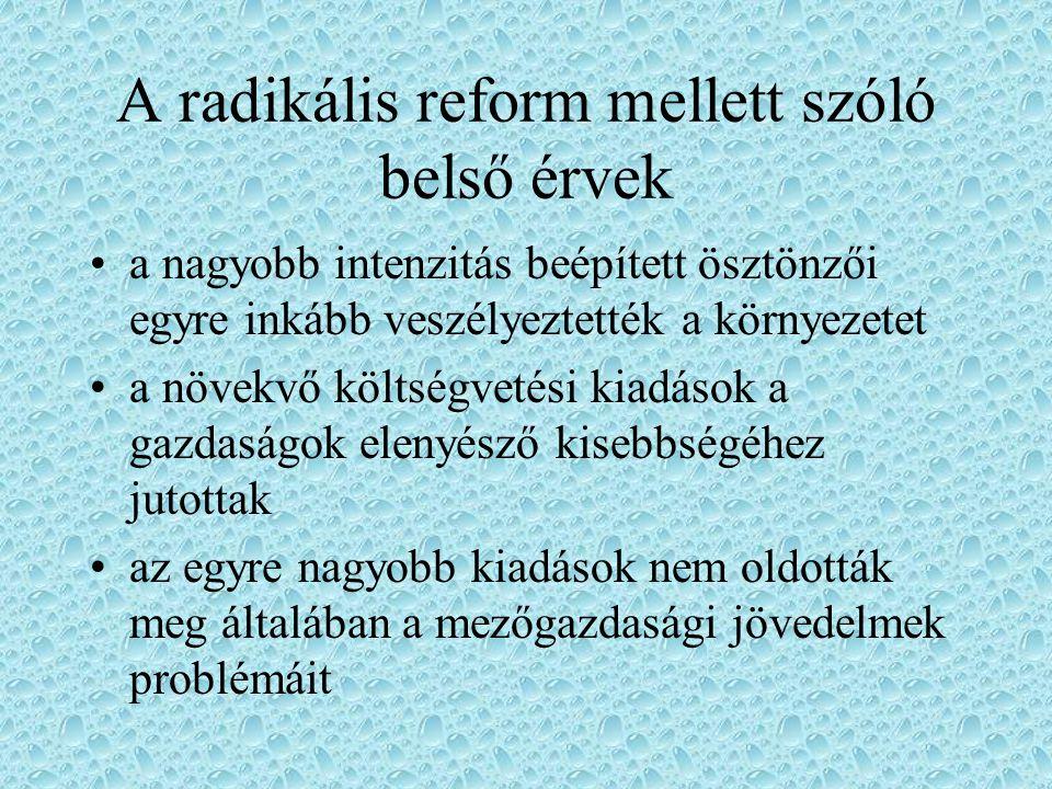 A radikális reform mellett szóló belső érvek