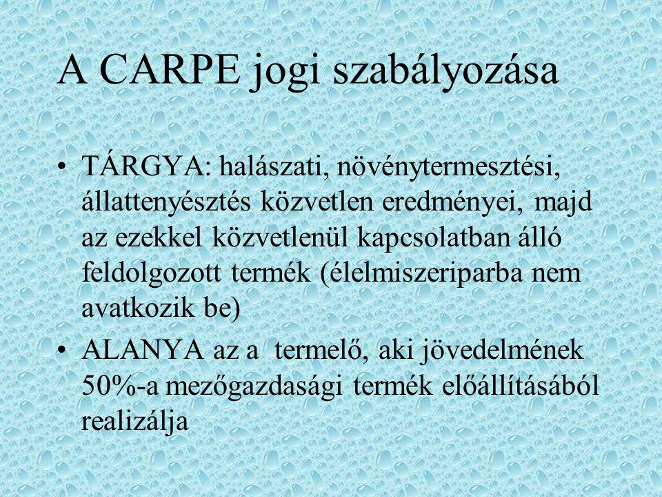 A CARPE jogi szabályozása