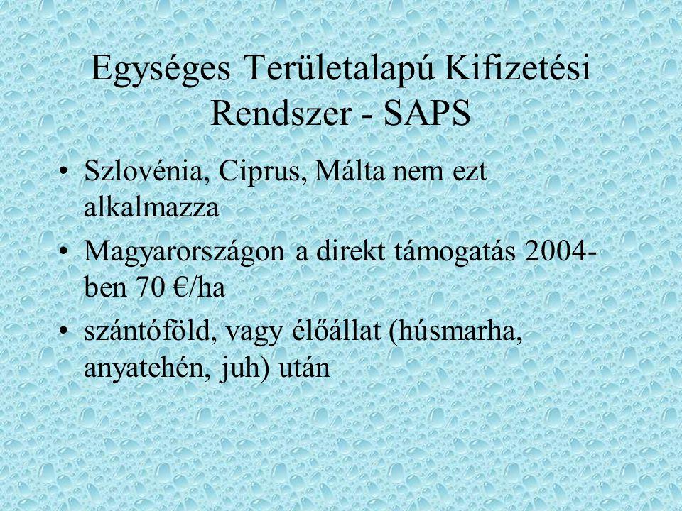 Egységes Területalapú Kifizetési Rendszer - SAPS