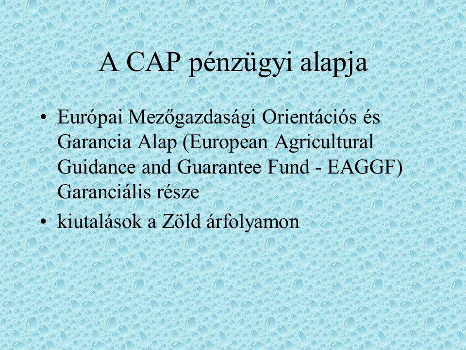 A CAP pénzügyi alapja