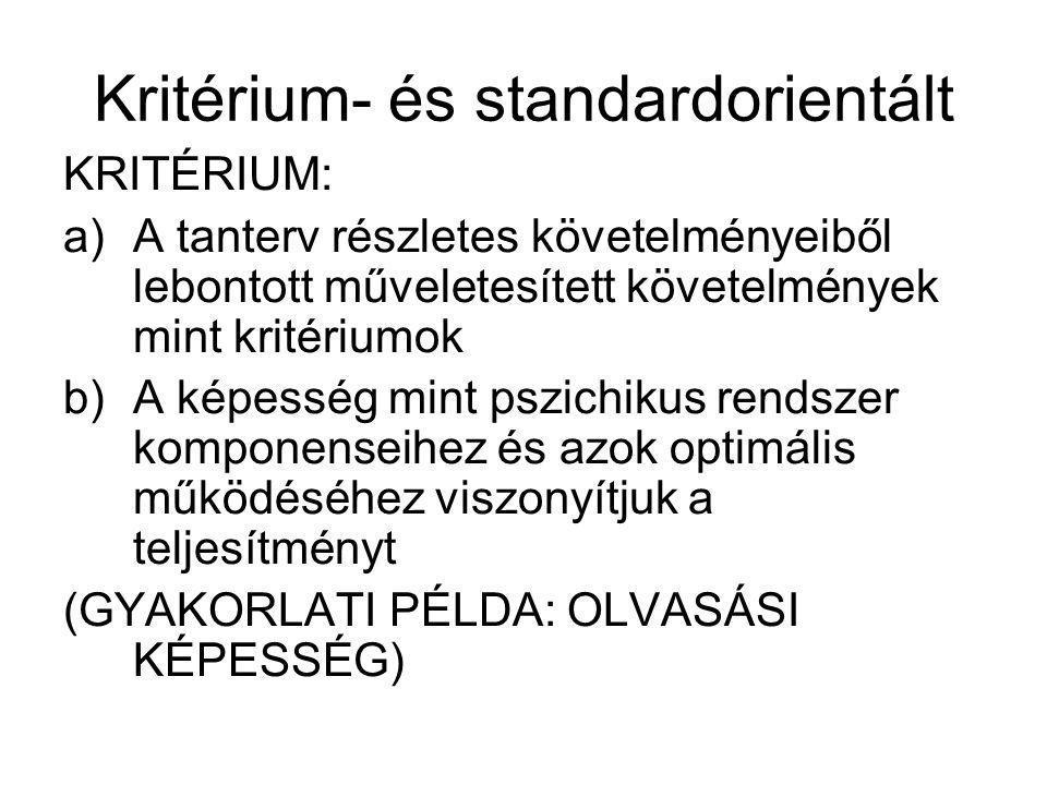 Kritérium- és standardorientált