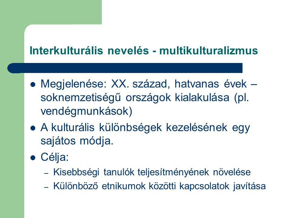 Interkulturális nevelés - multikulturalizmus