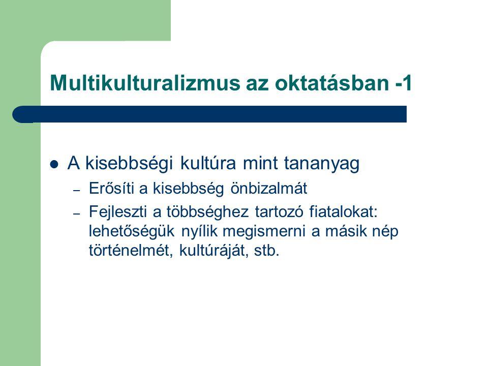 Multikulturalizmus az oktatásban -1