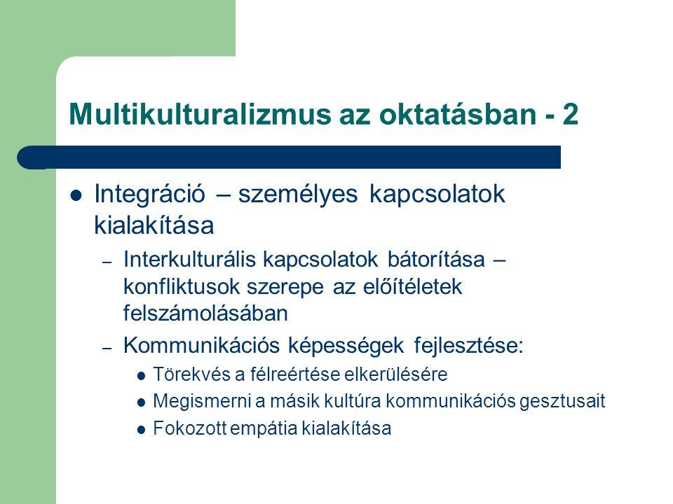 Multikulturalizmus az oktatásban - 2