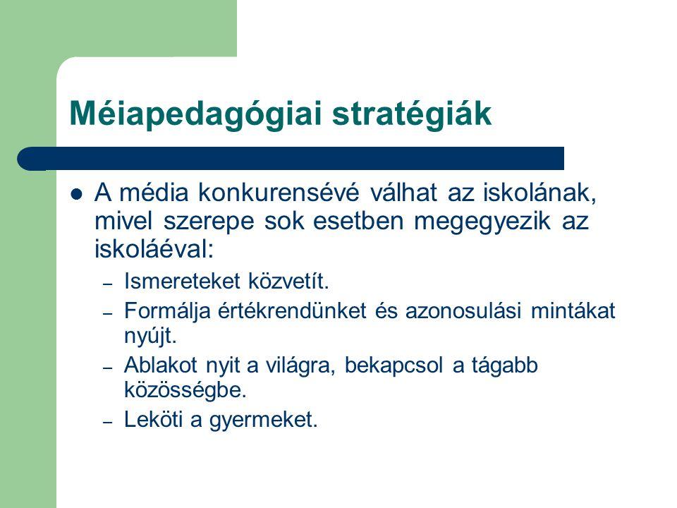 Méiapedagógiai stratégiák