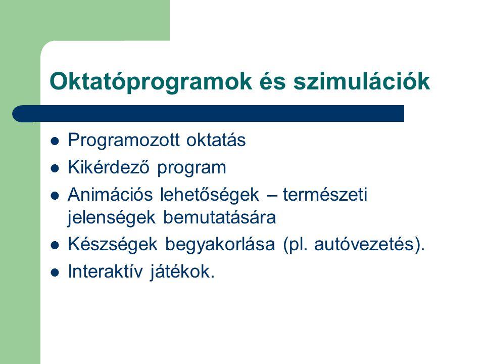 Oktatóprogramok és szimulációk