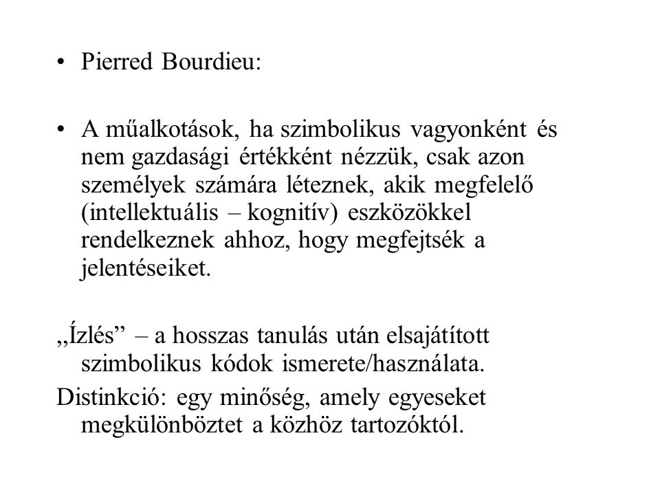 Pierred Bourdieu: