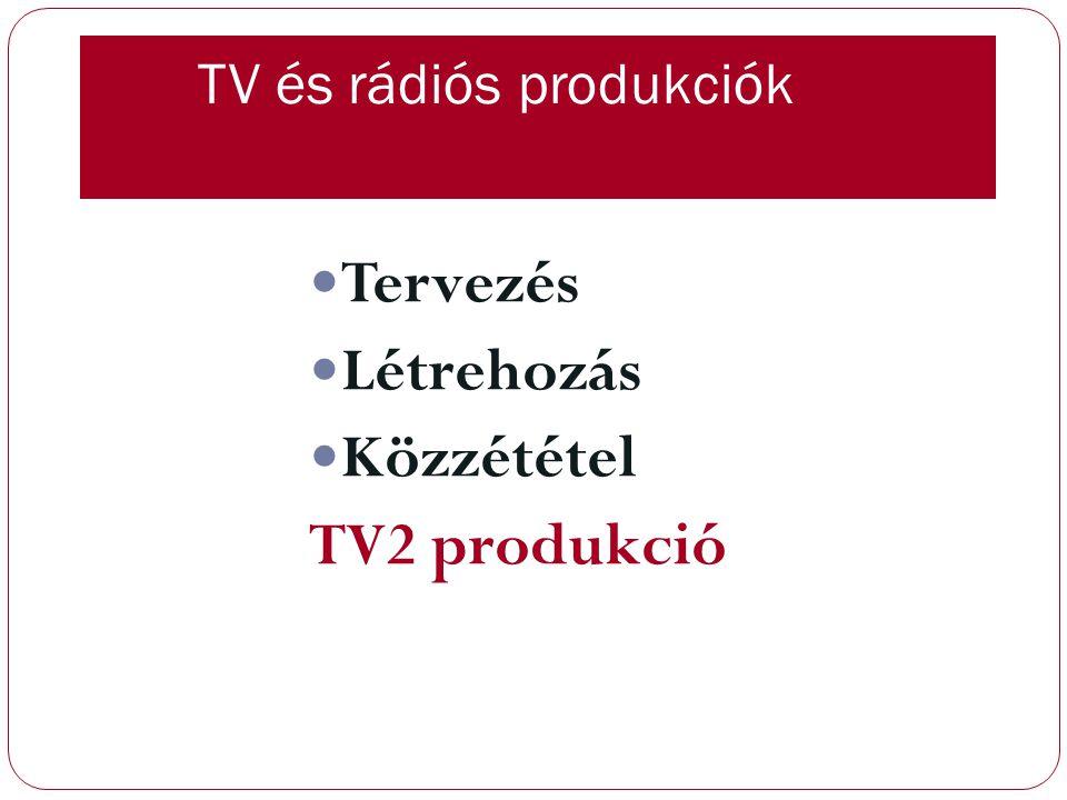 TV és rádiós produkciók