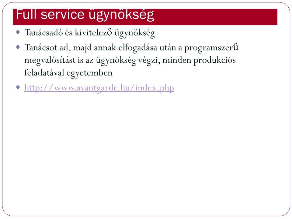 : Full service ügynökség