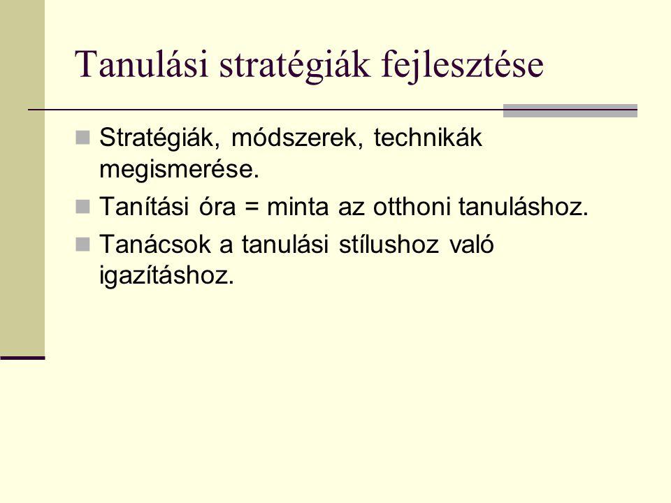 Tanulási stratégiák fejlesztése
