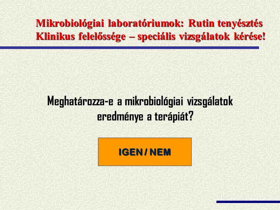 Meghatározza-e a mikrobiológiai vizsgálatok eredménye a terápiát
