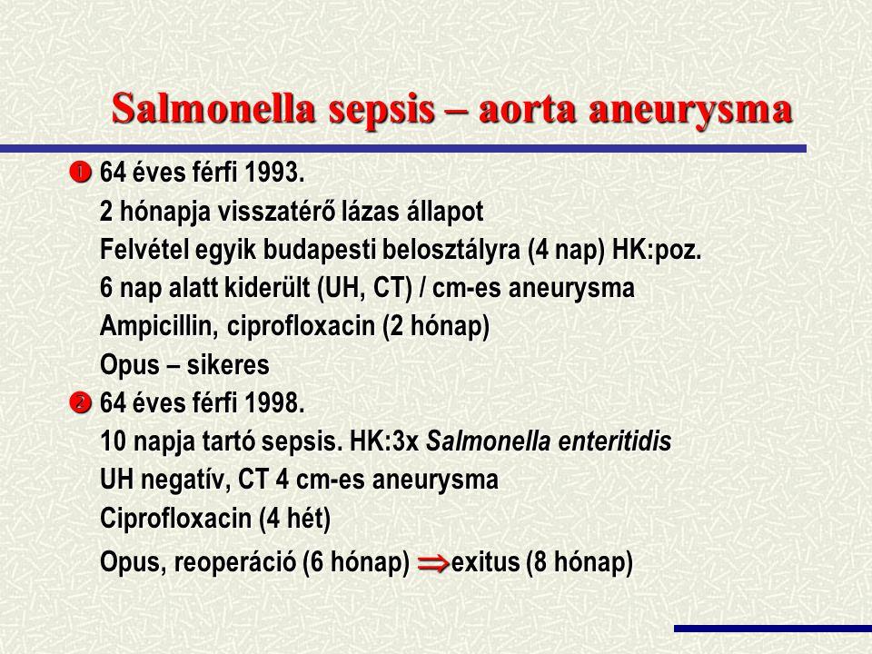 Salmonella sepsis – aorta aneurysma