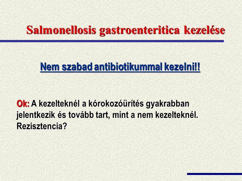 Salmonellosis gastroenteritica kezelése
