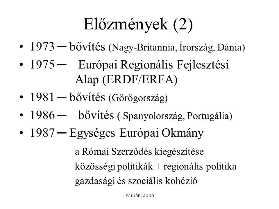 Előzmények (2) 1973 ─ bővítés (Nagy-Britannia, Írország, Dánia)
