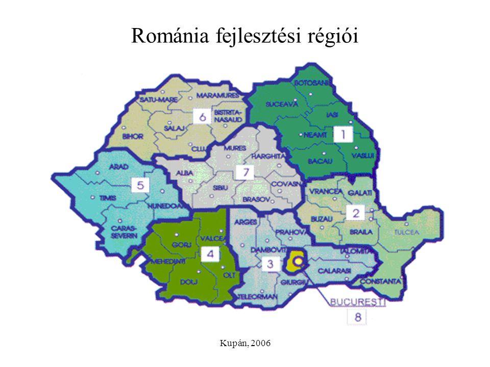 Románia fejlesztési régiói
