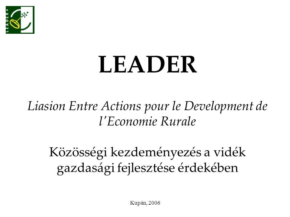 LEADER Liasion Entre Actions pour le Development de l Economie Rurale Közösségi kezdeményezés a vidék gazdasági fejlesztése érdekében