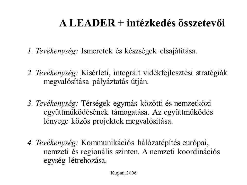 A LEADER + intézkedés összetevői