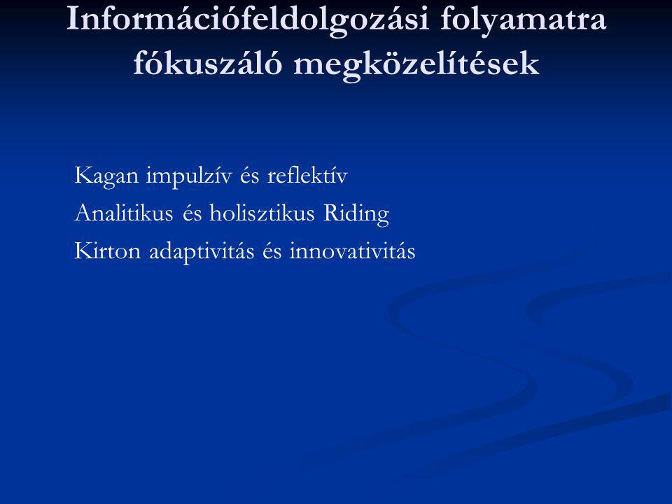 Információfeldolgozási folyamatra fókuszáló megközelítések