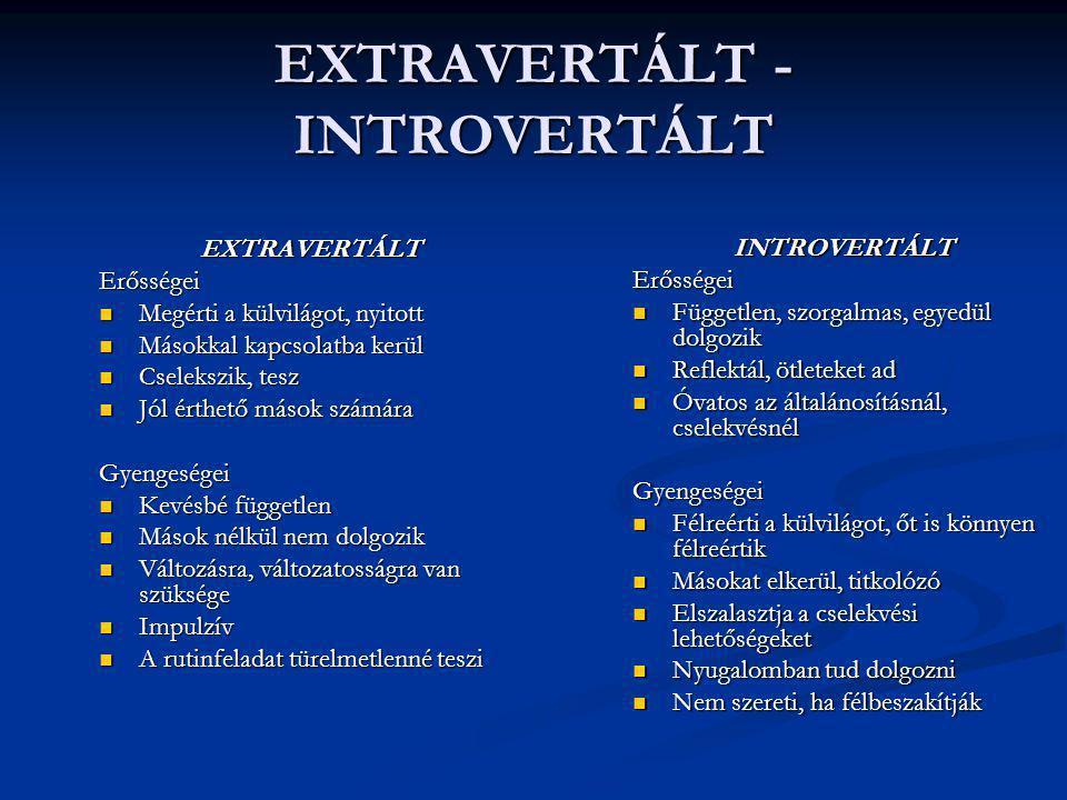 EXTRAVERTÁLT - INTROVERTÁLT