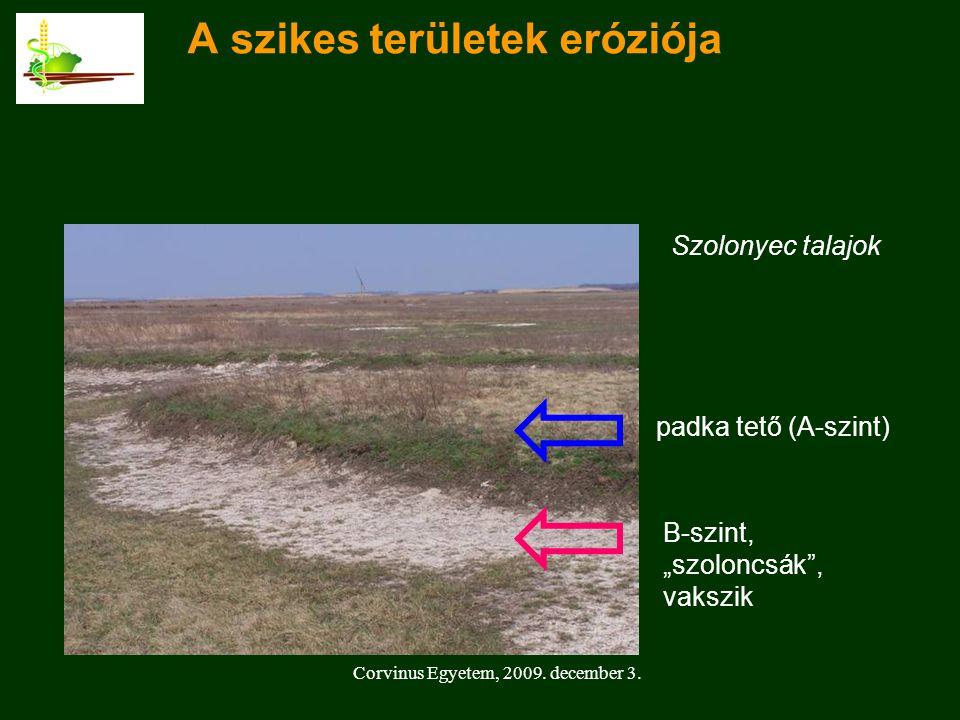 A szikes területek eróziója