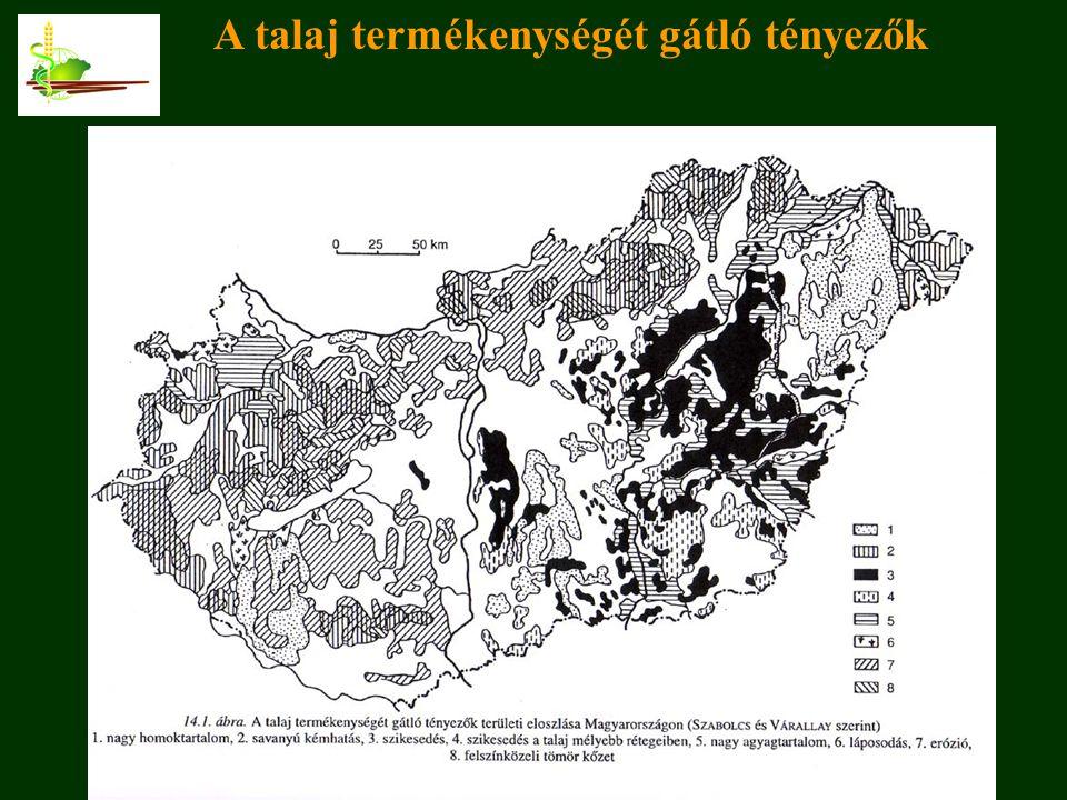 A talaj termékenységét gátló tényezők