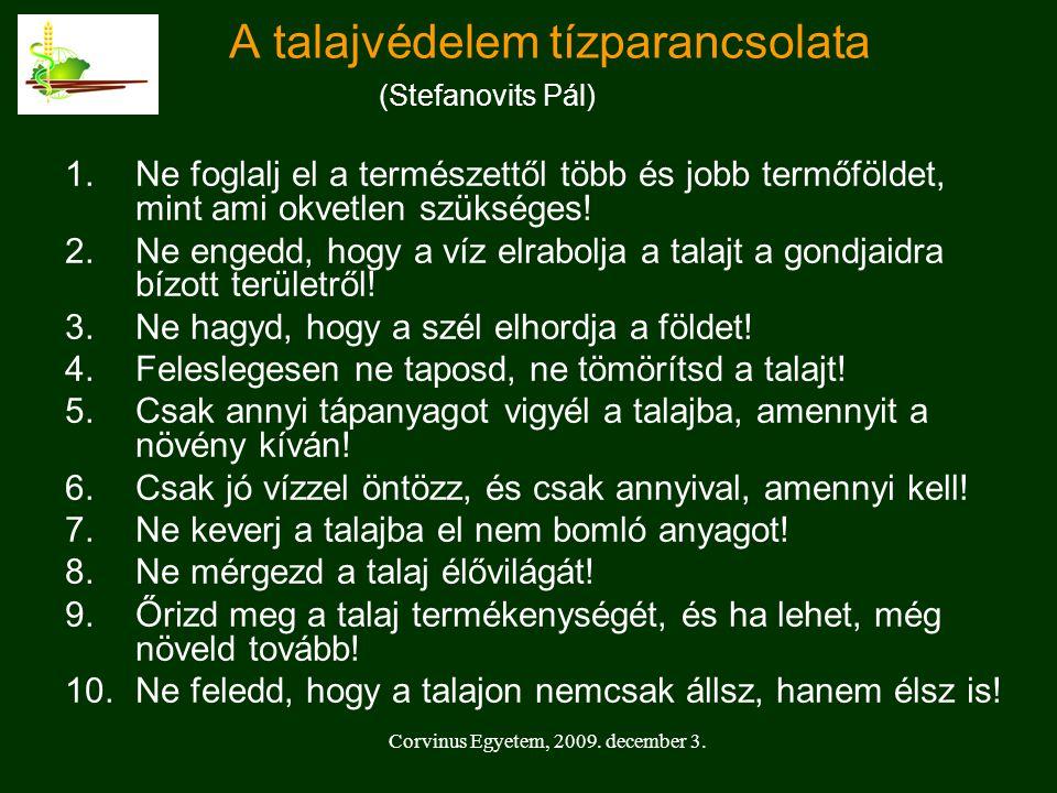 A talajvédelem tízparancsolata