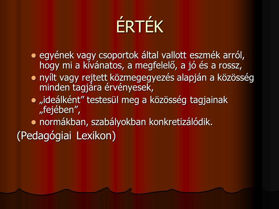 ÉRTÉK (Pedagógiai Lexikon)
