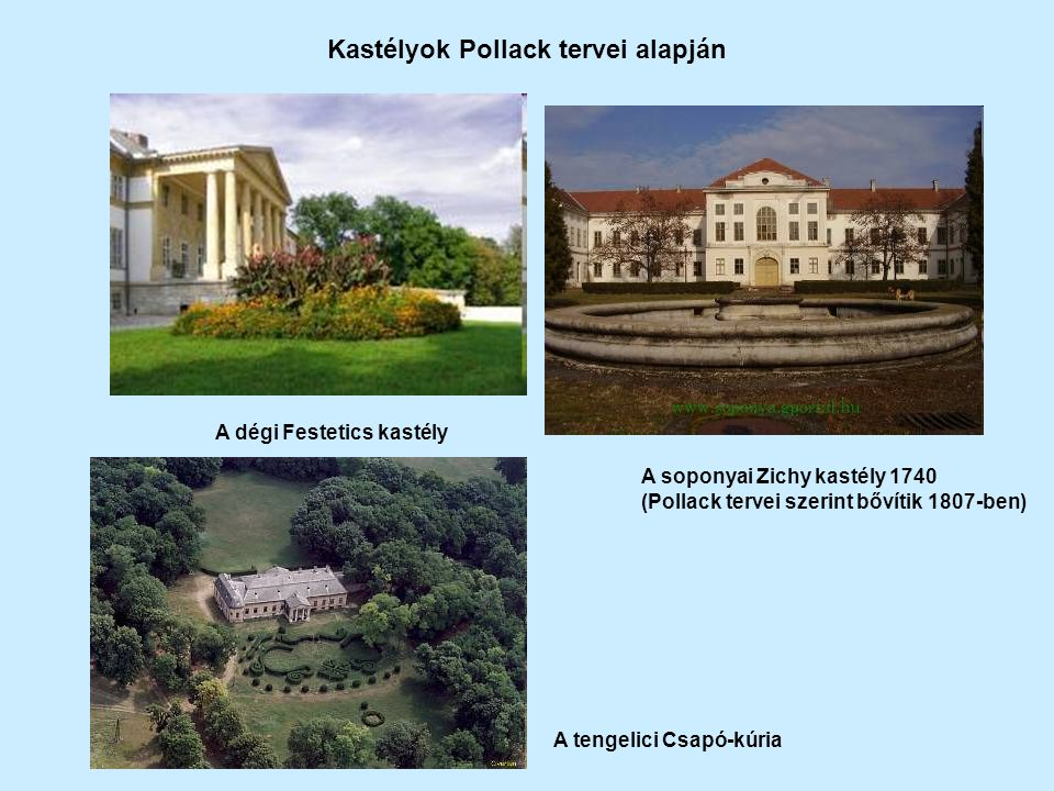 Kastélyok Pollack tervei alapján