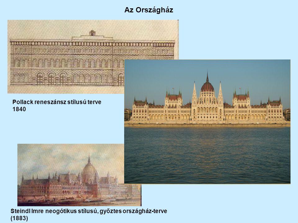 Az Országház Pollack reneszánsz stílusú terve 1840