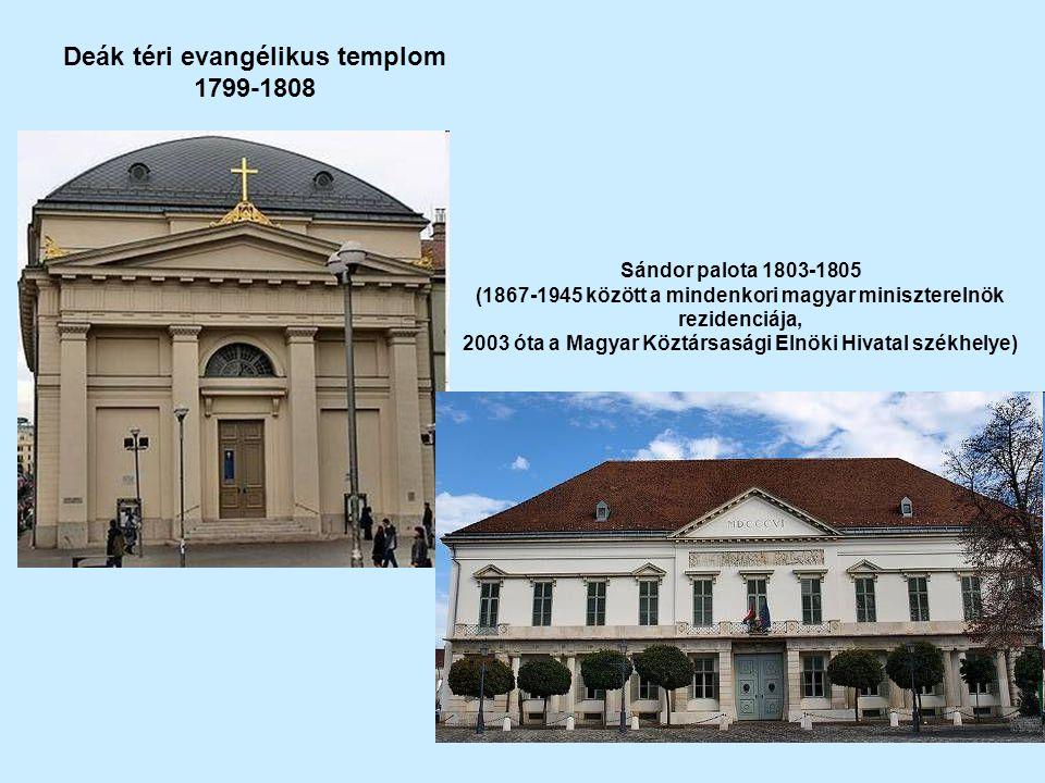 Deák téri evangélikus templom 1799-1808