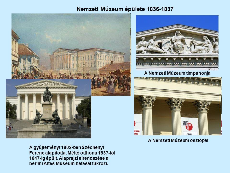 Nemzeti Múzeum épülete 1836-1837