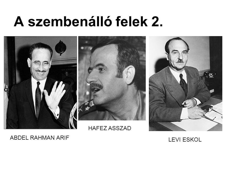 A szembenálló felek 2. HAFEZ ASSZAD ABDEL RAHMAN ARIF LEVI ESKOL