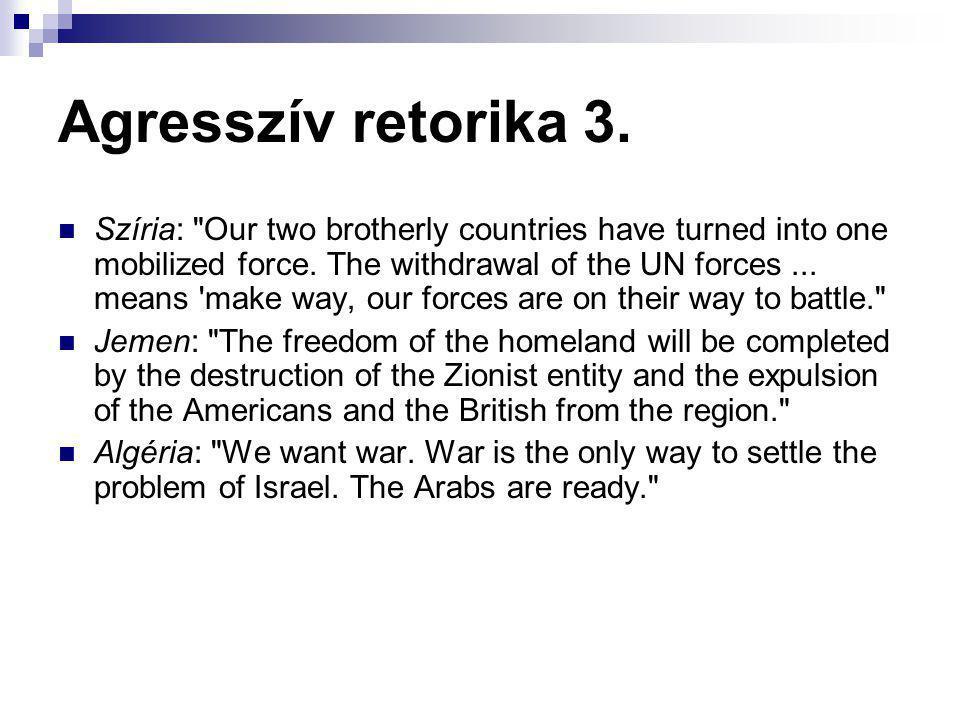 Agresszív retorika 3.